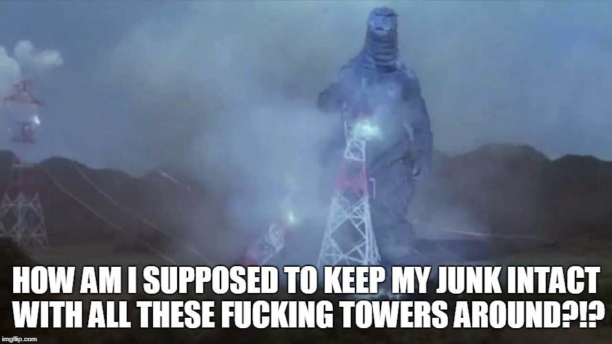 HOW AM I SUPPOSED TO KEEP MY JUNK INTACT WITH ALL THESE F**KING TOWERS AROUND?!? | made w/ Imgflip meme maker
