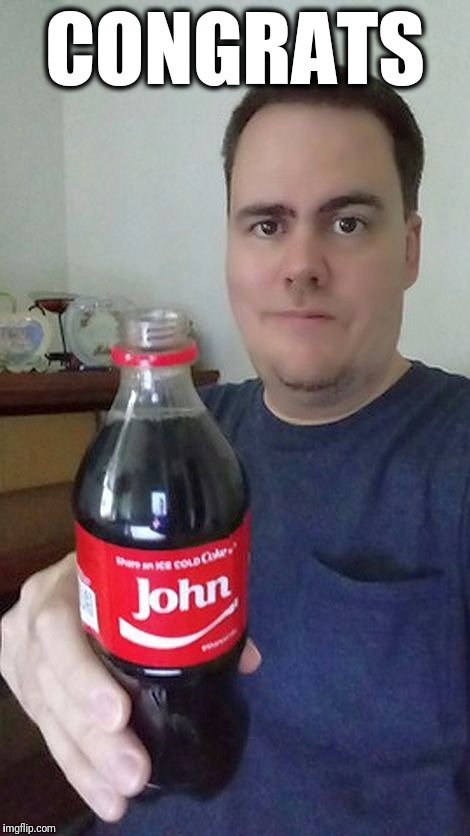 john | CONGRATS | image tagged in john | made w/ Imgflip meme maker