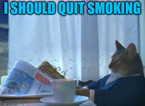 I SHOULD QUIT SMOKING | made w/ Imgflip meme maker