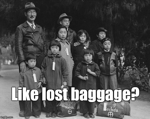tagged for internment | Like lost baggage? | image tagged in tagged for internment | made w/ Imgflip meme maker