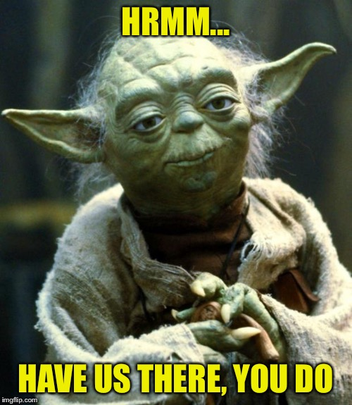 Star Wars Yoda Meme | HRMM... HAVE US THERE, YOU DO | image tagged in memes,star wars yoda | made w/ Imgflip meme maker