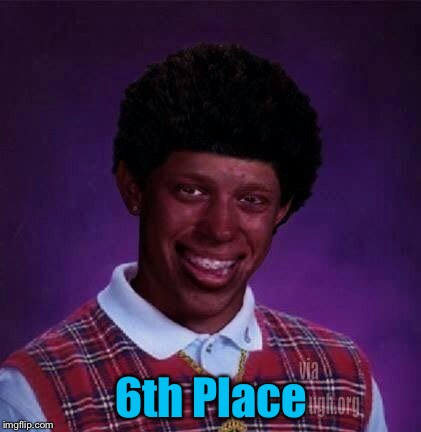6th Place | made w/ Imgflip meme maker