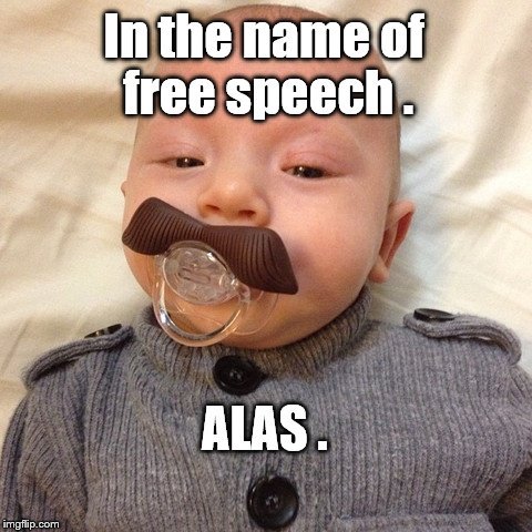 Uncle Joe's baby pic | In the name of free speech . ALAS . | image tagged in uncle joe's baby pic | made w/ Imgflip meme maker