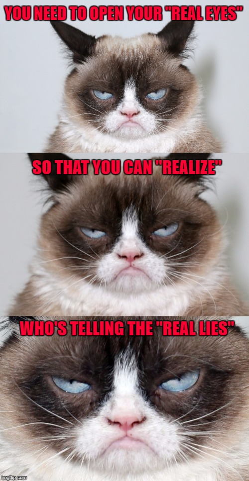 "It's getting really hard to know what's real and what's fake anymore... | YOU NEED TO OPEN YOUR ""REAL EYES"" SO THAT YOU CAN ""REALIZE"" WHO'S TELLING THE ""REAL LIES"" 