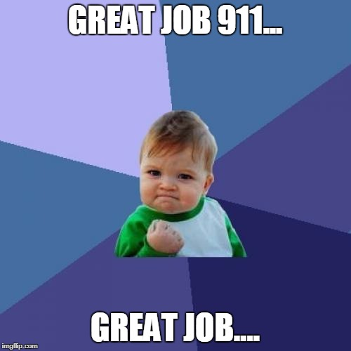 Success Kid Meme | GREAT JOB 911... GREAT JOB.... | image tagged in memes,success kid | made w/ Imgflip meme maker