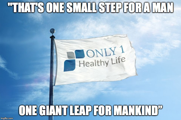 """THAT'S ONE SMALL STEP FOR A MAN ONE GIANT LEAP FOR MANKIND"" 