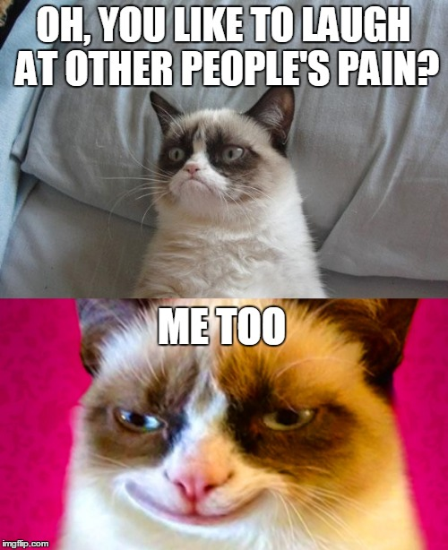 OH, YOU LIKE TO LAUGH AT OTHER PEOPLE'S PAIN? ME TOO | made w/ Imgflip meme maker