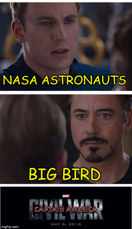 Tellin' It Like It Is | NASA ASTRONAUTS BIG BIRD | image tagged in memes,marvel civil war 1,nasa,astronauts,fake moon landing,flat earth | made w/ Imgflip meme maker