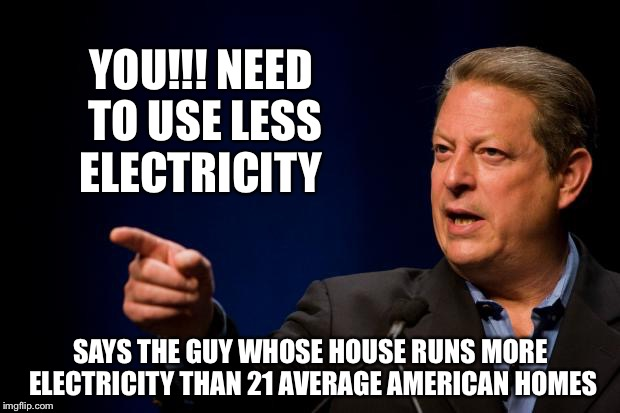 al gore troll | YOU!!! NEED TO USE LESS ELECTRICITY SAYS THE GUY WHOSE HOUSE RUNS MORE ELECTRICITY THAN 21 AVERAGE AMERICAN HOMES | image tagged in al gore troll | made w/ Imgflip meme maker
