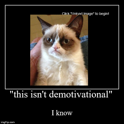 """this isn't demotivational"" 