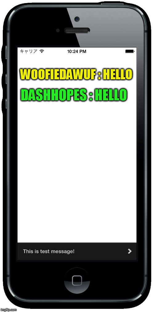 WOOFIEDAWUF : HELLO DASHHOPES : HELLO | made w/ Imgflip meme maker