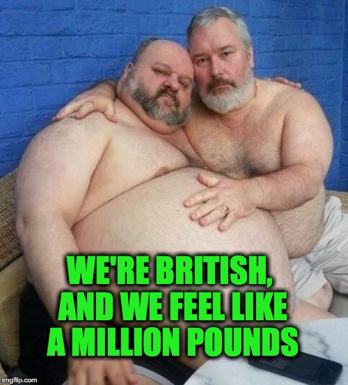 WE'RE BRITISH, AND WE FEEL LIKE A MILLION POUNDS | made w/ Imgflip meme maker