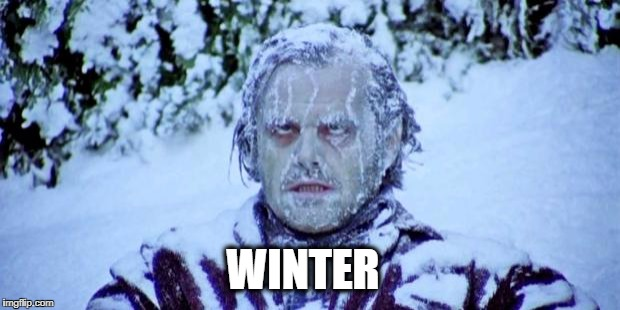 The Shining winter | WINTER | image tagged in the shining winter | made w/ Imgflip meme maker