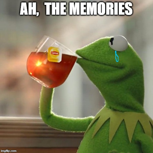 But Thats None Of My Business Meme | AH,  THE MEMORIES | image tagged in memes,but thats none of my business,kermit the frog | made w/ Imgflip meme maker