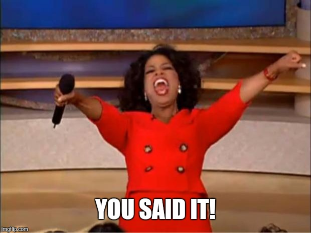 Oprah You Get A Meme | YOU SAID IT! | image tagged in memes,oprah you get a | made w/ Imgflip meme maker
