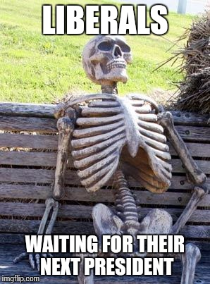 Waiting Skeleton Meme | LIBERALS WAITING FOR THEIR NEXT PRESIDENT | image tagged in memes,waiting skeleton | made w/ Imgflip meme maker