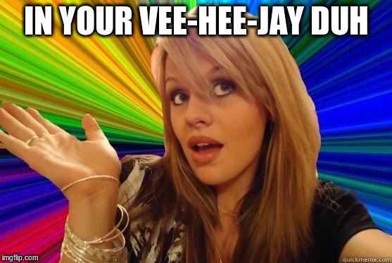 IN YOUR VEE-HEE-JAY DUH | made w/ Imgflip meme maker