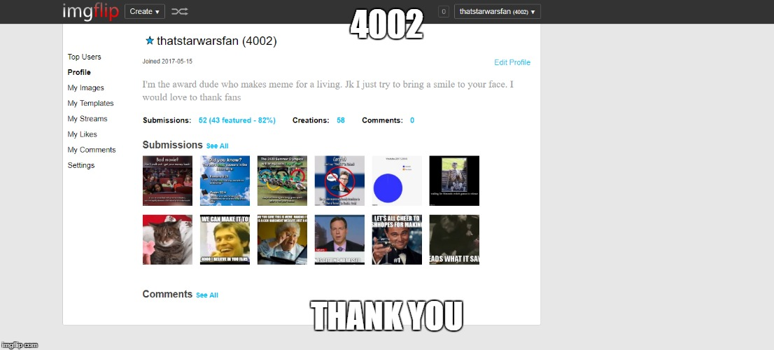 THANK YOU SO MUCH | 4002 THANK YOU | image tagged in love you guys | made w/ Imgflip meme maker