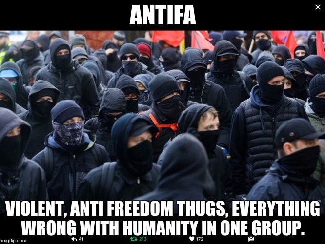 Antifa | ANTIFA VIOLENT, ANTI FREEDOM THUGS, EVERYTHING WRONG WITH HUMANITY IN ONE GROUP. | image tagged in antifa | made w/ Imgflip meme maker