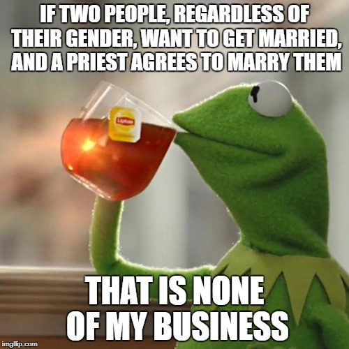 "My $0.02 on the ""same sex marriage"" debate 