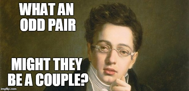 WHAT AN ODD PAIR MIGHT THEY BE A COUPLE? | made w/ Imgflip meme maker