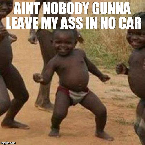 Third World Success Kid Meme | AINT NOBODY GUNNA LEAVE MY ASS IN NO CAR | image tagged in memes,third world success kid | made w/ Imgflip meme maker