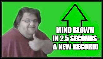MIND BLOWN IN 2.5 SECONDS- A NEW RECORD! | made w/ Imgflip meme maker