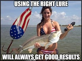 The joys of Fishing with a good lure. | image tagged in fishing | made w/ Imgflip meme maker