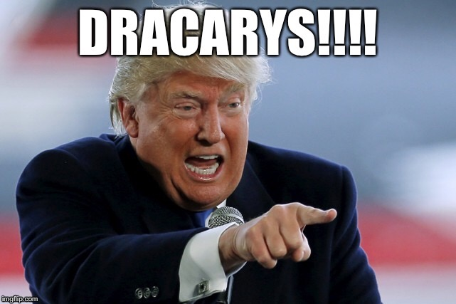 image tagged in game of thrones,donald trump,dracarys | made w/ Imgflip meme maker