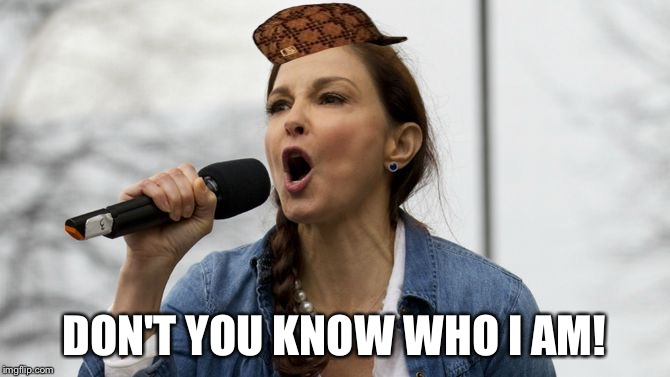 Ashley Judd | DON'T YOU KNOW WHO I AM! | image tagged in ashley judd,scumbag | made w/ Imgflip meme maker