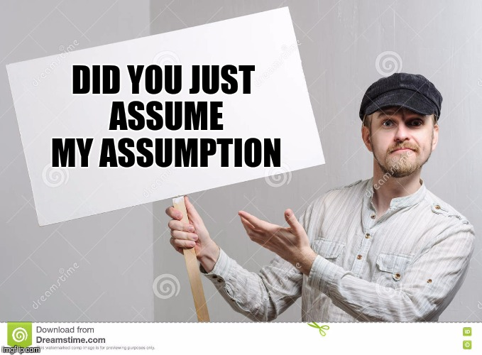 DID YOU JUST ASSUME MY ASSUMPTION | made w/ Imgflip meme maker