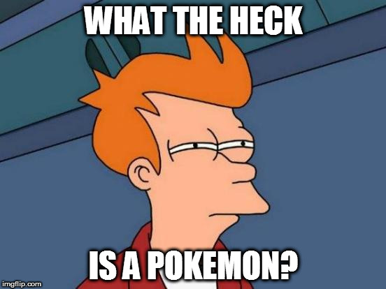 Futurama Fry Meme | WHAT THE HECK IS A POKEMON? | image tagged in memes,futurama fry | made w/ Imgflip meme maker
