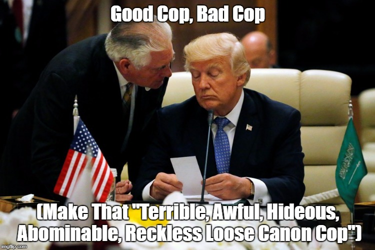 "Good Cop, Bad Cop (Make That ""Terrible, Awful, Hideous, Abominable, Reckless Loose Canon Cop"") 