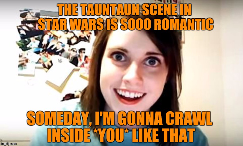 THE TAUNTAUN SCENE IN STAR WARS IS SOOO ROMANTIC SOMEDAY, I'M GONNA CRAWL INSIDE *YOU* LIKE THAT | made w/ Imgflip meme maker