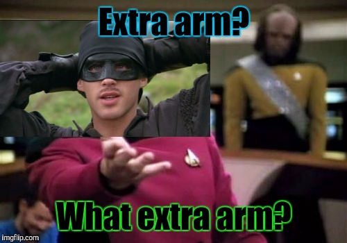 Picard Wtf Meme | Extra arm? What extra arm? | image tagged in memes,picard wtf | made w/ Imgflip meme maker