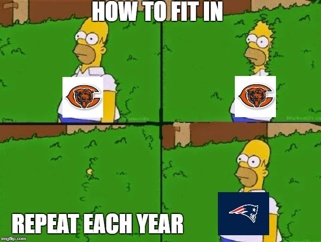 HOMER BUSH | HOW TO FIT IN REPEAT EACH YEAR | image tagged in homer bush | made w/ Imgflip meme maker