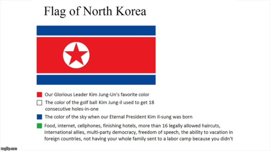 The flag of north korea | image tagged in kim jong un,north korea | made w/ Imgflip meme maker