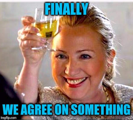 clinton toast | FINALLY WE AGREE ON SOMETHING | image tagged in clinton toast | made w/ Imgflip meme maker