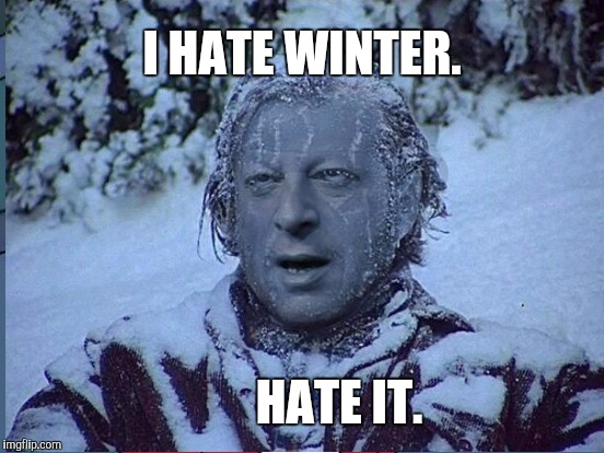 I HATE WINTER. HATE IT. | made w/ Imgflip meme maker
