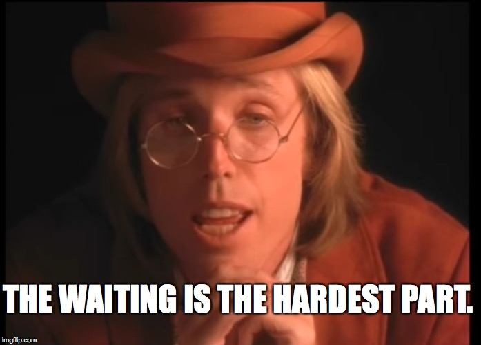 Well, it's one of the hardest parts | THE WAITING IS THE HARDEST PART. | image tagged in memes,tom petty | made w/ Imgflip meme maker