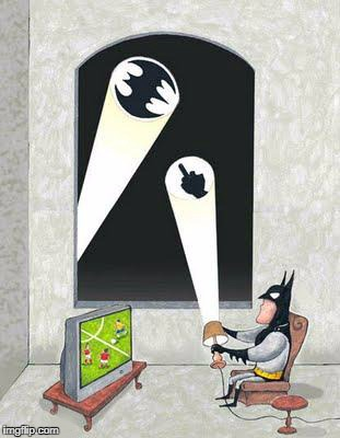 Even a superhero needs some down time once in awhile!!! | image tagged in batman,memes,bat signal,funny,downtime,flipping the bird | made w/ Imgflip meme maker