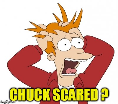 CHUCK SCARED ? | made w/ Imgflip meme maker