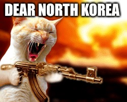 DEAR NORTH KOREA | image tagged in memes,funny,north korea | made w/ Imgflip meme maker