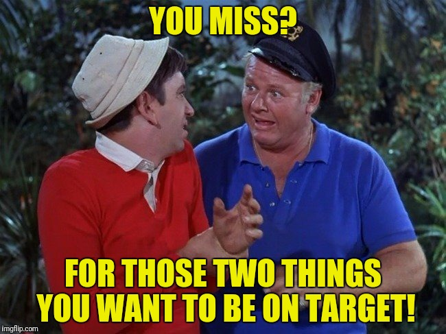 YOU MISS? FOR THOSE TWO THINGS YOU WANT TO BE ON TARGET! | made w/ Imgflip meme maker