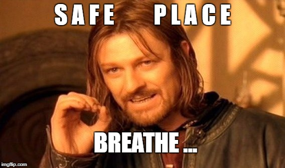 One Does Not Simply Meme | S A F E         P L A C E BREATHE ... | image tagged in memes,one does not simply | made w/ Imgflip meme maker