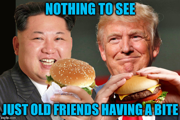 NOTHING TO SEE JUST OLD FRIENDS HAVING A BITE | made w/ Imgflip meme maker