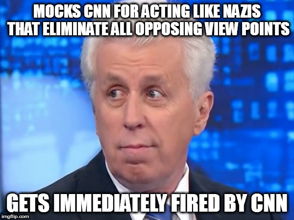 MOCKS CNN FOR ACTING LIKE NAZIS THAT ELIMINATE ALL OPPOSING VIEW POINTS GETS IMMEDIATELY FIRED BY CNN | image tagged in cnn jeff jeffrey lord nazi nazis sieg heil | made w/ Imgflip meme maker
