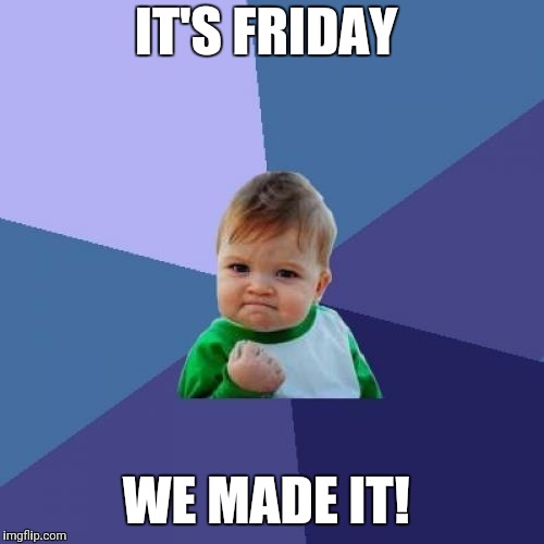 Success Kid Meme | IT'S FRIDAY WE MADE IT! | image tagged in memes,success kid | made w/ Imgflip meme maker