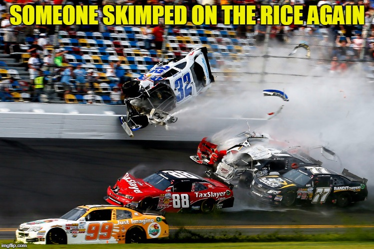 SOMEONE SKIMPED ON THE RICE AGAIN | made w/ Imgflip meme maker