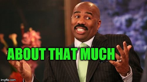 Steve Harvey Meme | ABOUT THAT MUCH | image tagged in memes,steve harvey | made w/ Imgflip meme maker